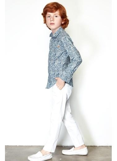 Nebbati Erkek Çocuk Beyaz Pantolon 19SS0NB3215 Beyaz